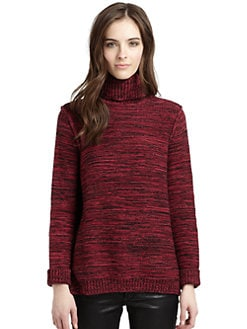 525 america - Cotton Melange Knit Turtleneck
