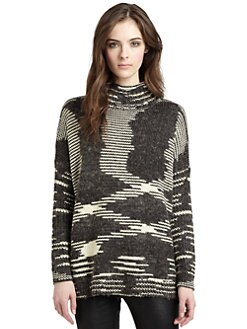 525 america - Space Dye Mockneck Sweater