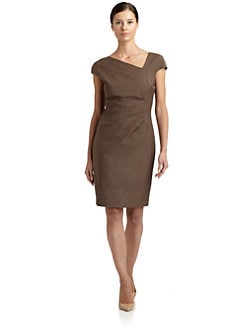 Magaschoni - Asymmetrical Front Sheath Dress