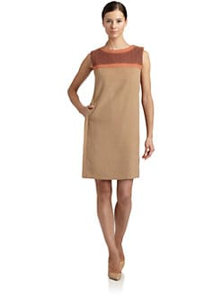 Magaschoni - Wool Cable-Knit Yoke Dress