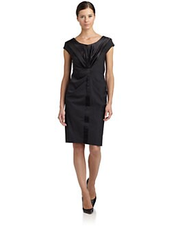 Magaschoni - Wool Drape Front Dress