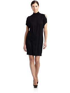 Magaschoni - Silk/Cashmere Cold Shoulder Dress