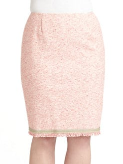 Lafayette 148 New York, Salon Z - Cotton Tweed Skirt