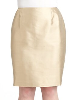 Lafayette 148 New York, Salon Z - Cotton & Silk Shantung Skirt