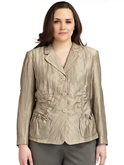 Lafayette 148 New York, Salon Z - Anika Crinkled Blazer