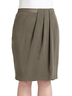 Lafayette 148 New York, Salon Z - Hartley Brushed Silk Wrap-Effect Skirt