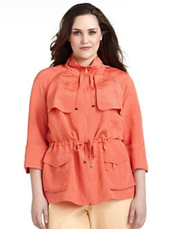 Lafayette 148 New York, Salon Z - Taylor Drawstring-Waist Jacket