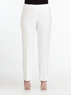 Lafayette 148 New York, Salon Z - Barrow Straight Leg Linen Pants