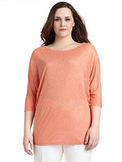 Lafayette 148 New York, Salon Z - Fine-Knit Dolman-Sleeved Sweater