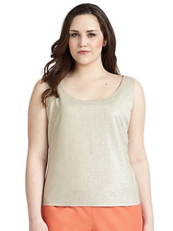 Lafayette 148 New York, Salon Z - Metallic Knit Camisole