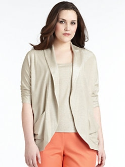Lafayette 148 New York, Salon Z - Draped Metallic Cardigan