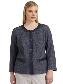 Lafayette 148 New York, Salon Z - Hilaria Tweed Turnlock Jacket