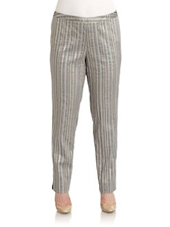 Lafayette 148 New York, Salon Z - Bleeker Metallic Stripe Pants
