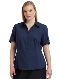 Lafayette 148 New York, Salon Z - Janesa Button-Front Blouse