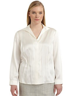 Lafayette 148 New York, Salon Z - Gianna Silk Satin Blouse
