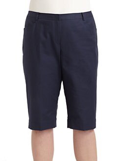 Lafayette 148 New York, Salon Z - Bermuda Shorts/Blue