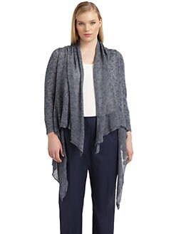 Lafayette 148 New York, Salon Z - Draped Front Knit Cardigan