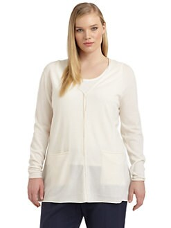Lafayette 148 New York, Salon Z - Merino Wool V-Neck Cardigan