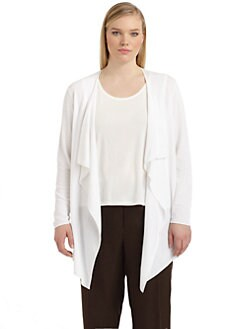 Lafayette 148 New York, Salon Z - Draped Open Cardigan