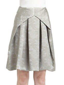 Josie Natori - Negan Brocade Pleated Skirt