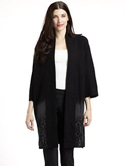 Josie Natori - Magnai Wool Embroidered Hem Ombre Jacket