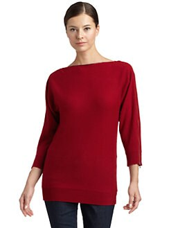 Magaschoni - Cashmere Dolman-Sleeve Zip Sweater