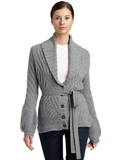 Magaschoni - Cashmere Tie-Front Cardigan