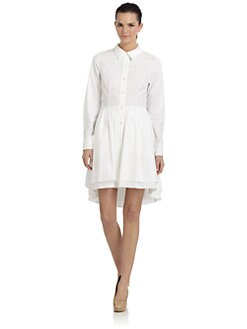 Pink Tartan - Double Tier Shirt Dress