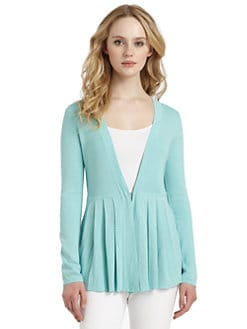 Cullen - Silk & Cotton Peplum Cardigan