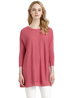 Cullen - Silk & Cotton Ribbed Dolman Top