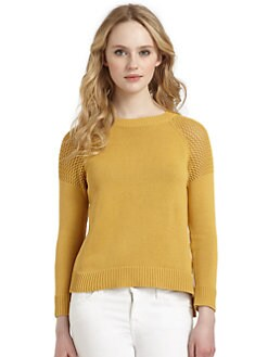 Cullen - Cotton Multi-Stitch Hi-Lo Sweater