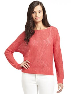Cullen - Linen Open Stitch Bateau Neck Sweater