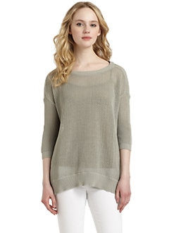 Cullen - Cotton Mesh Stitch Sweater