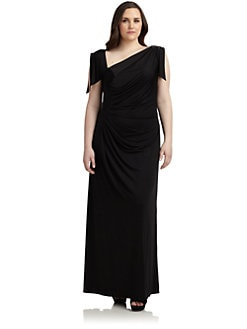 David Meister, Salon Z - Asymmetrical Draped Gown