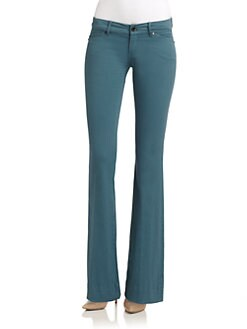 Elie Tahari - Adena Stretch Cotton Straight-Leg Pants