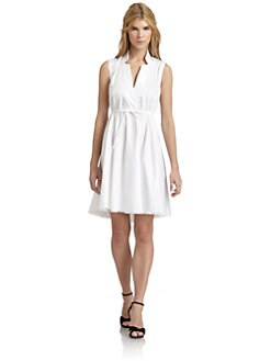 Magaschoni - Cotton Drawstring Waist Dress
