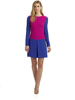 Rachel Roy - Colorblock Triangle Pleat Dress