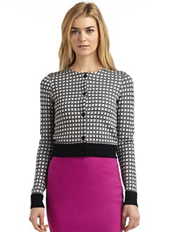 Rachel Roy - Jacquard Geometric Cardigan