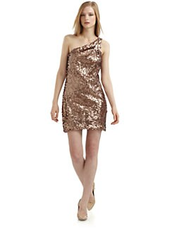 Alexia Admor - Sequin One-Shoulder Cocktail Dress