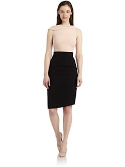 Rachel Roy - Two-Tone Asymmetrical Draped-Neck Dress