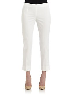 Lafayette 148 New York - Bleecker Stretch Cotton Cropped Pants