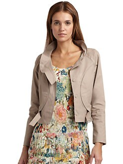 Vivienne Tam - Khaki Princess Seam Jacket