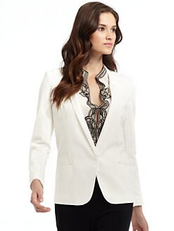 Vivienne Tam - Jagger Blazer/White
