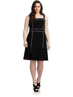 Lafayette 148 New York, Salon Z - Mathilde Piped A-Line Dress