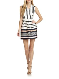 Raoul - Nautical Striped Silk & Cotton Dress
