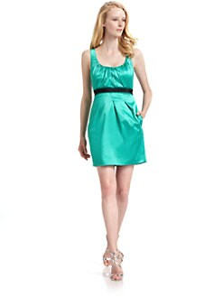BCBGMAXAZRIA - Satin Pleated Dress