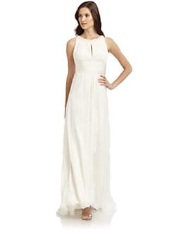 Carmen Marc Valvo - Beaded Halter Neck Gown