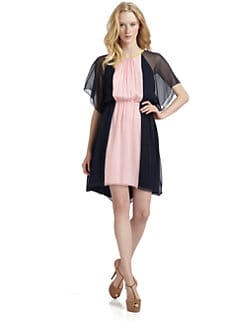 Ali Ro - Silk Chiffon Colorblock Dress