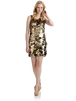 Aidan Mattox - Sequin Pailette Dress