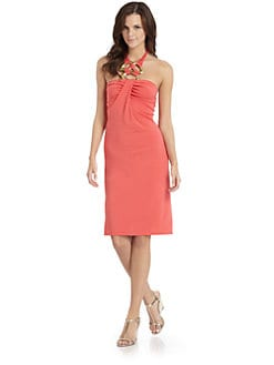 Josie Natori - Matte Jersey Necklace Halter Dress
